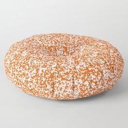 Tiny Spots - White and Dark Orange Floor Pillow