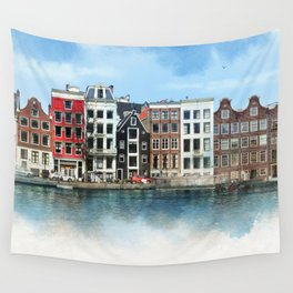 Embankments of Amsterdam. The Netherlands. Wall Tapestry