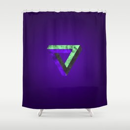 The infinity triangle inverted Shower Curtain