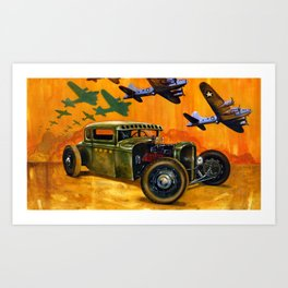 Pride of the fleet Art Print