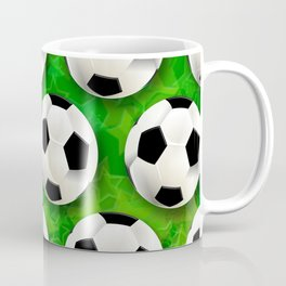 Soccer Ball Football Pattern Coffee Mug