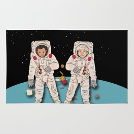 Astronaut Brothers Rug