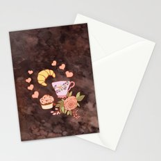 Romantic breakfast   Stationery Cards