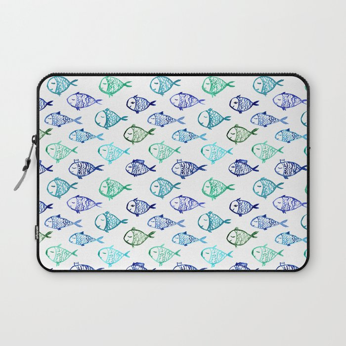 Swimming to Maldives    watercolor Laptop Sleeve