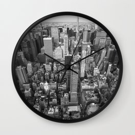 New York City black and white Wall Clock