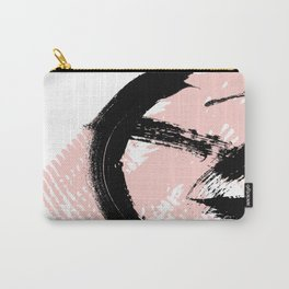 Black Brush strokes Carry-All Pouch