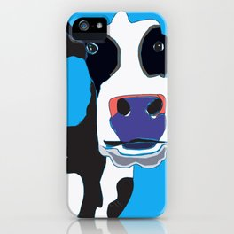 Cow in the Blue Sky iPhone Case