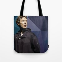 hamlet Tote Bags featuring Benedict Cumberbatch - Hamlet Barbican by khitkhat