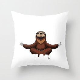 Slumber Party Animal Shirt Sloth Sleepover Squad Pajama Throw Pillow