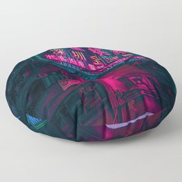 Chinese Neon Lights (Color) Floor Pillow