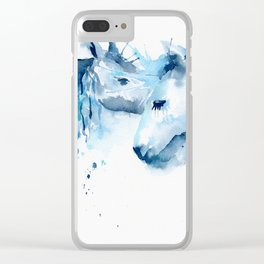 Watercolor Horse Love Clear iPhone Case