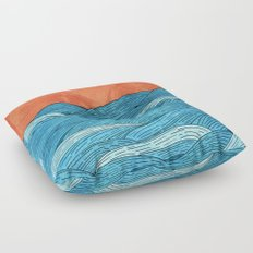 The Blue Sea Floor Pillow
