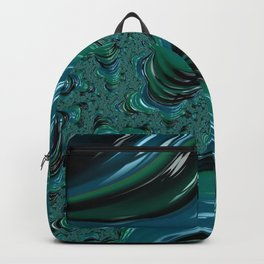 Blue and Turqouise Fractal Backpack
