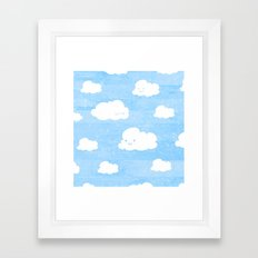 Weekends and Clouds Framed Art Print