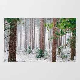 Vivid Snow Forest (Color) Rug