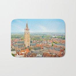 Copy of Bruges cityscape, Belgium Bath Mat