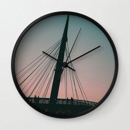 Bridge Italian City Wall Clock
