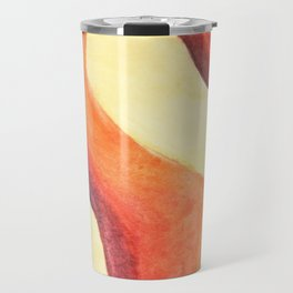 Lava Lamp Study in Reds and Oranges Travel Mug