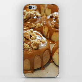 Homemade baking. Buns with caramel and walnuts. iPhone Skin
