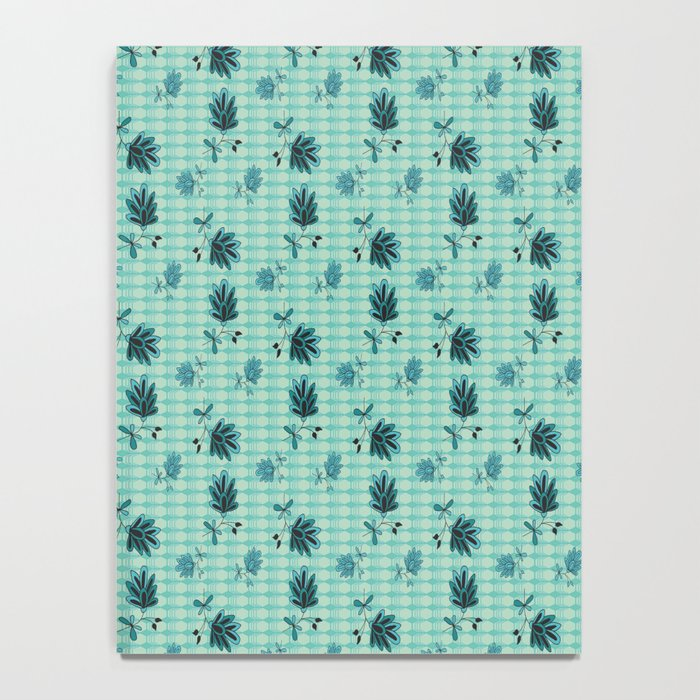 country blue flowers pattern Notebook