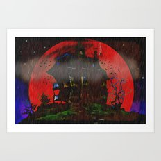 There Was a Crooked House - 055 Art Print