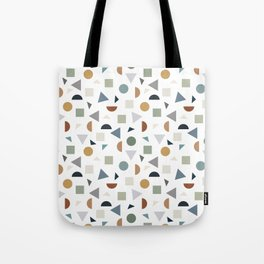 green geometric terrazzo Tote Bag