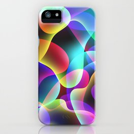 Electric  Rainbow Jellyfish iPhone Case
