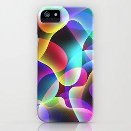 Electric  Rainbow Jellyfish iPhone Case