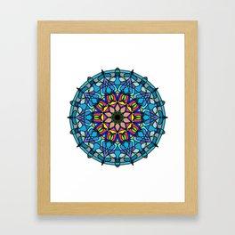 Mandala Curve beautiful. Framed Art Print