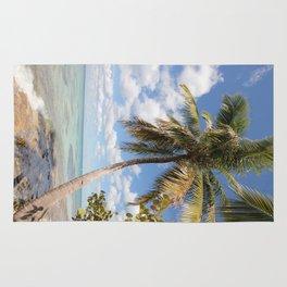 Isla Saona - Palm Tree at the Beach Rug