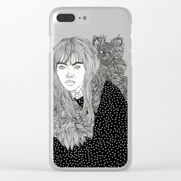 I Am Not A Cat Person Clear iPhone Case