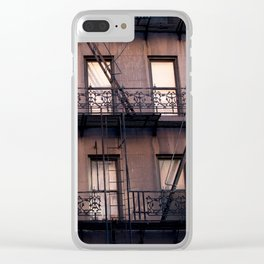 new york balconies Clear iPhone Case