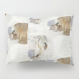 Abstract Leaves in Neutral Colours Pillow Sham