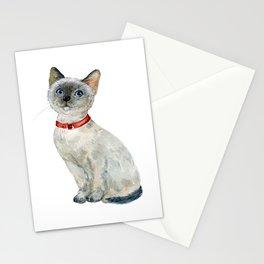 Cat, Animal Art, Cat Print, Gray Cat Print, Kitten, Kitten Art Stationery Cards