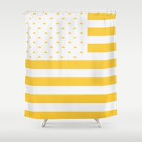 america Shower Curtains featuring AMERICA by TT Smith