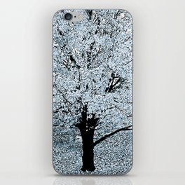 TREES WHITE ABSTRACT iPhone Skin