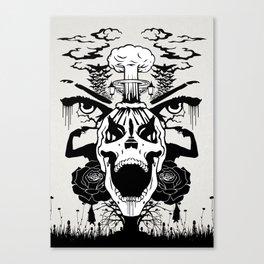 SKULL SYMMETRY Canvas Print