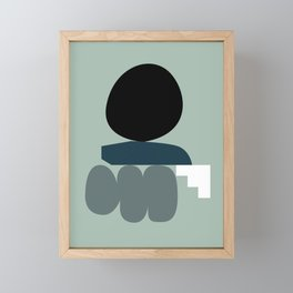 Shape study #19 - Stackable Collection Framed Mini Art Print