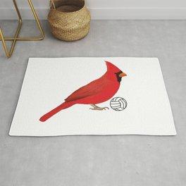Volleyball Cardinal Rug