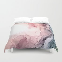 Blush and Blue Dream 1: Original painting Duvet Cover
