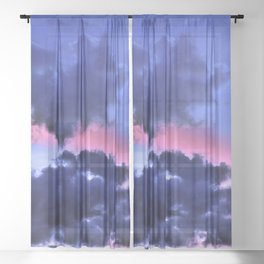 Clouds - Twilight Summer #1 #sunset #decor #art #society6 Sheer Curtain