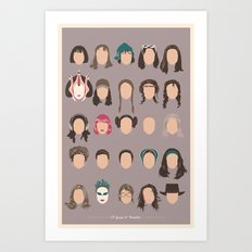 25 FACES OF NATALIE Art Print