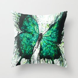 Night Garden Butterfly Throw Pillow