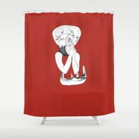 eat Shower Curtains featuring EAT by Creating is Breathing