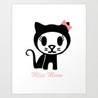 Miss Meow Art Print