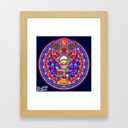 Hero Sword and Sheld Framed Art Print