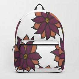 Holiday Two-Toned Flowers Backpack