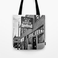 ale giorgini Tote Bags featuring M Street Ale House by Vorona Photography