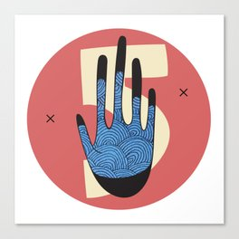 High Five in Blue Canvas Print