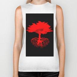 Heart Tree - Red Biker Tank